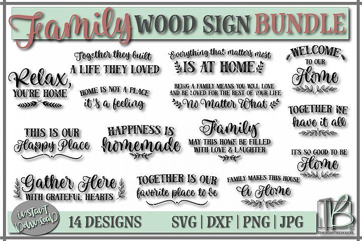 Family SVG Bundle, Wood Sign SVG Bundle, Family Cut file