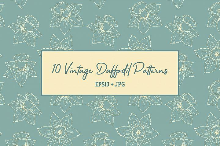 10 Vintage Daffodil Patterns