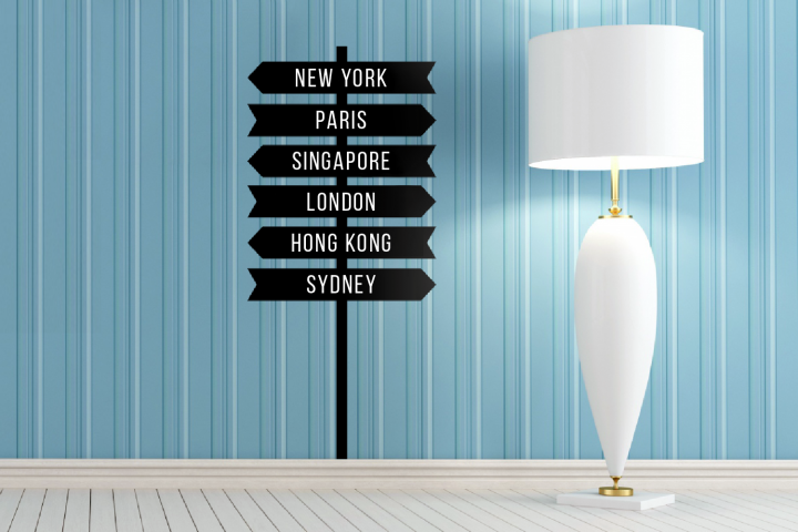 Customizable Sign Post SVG File