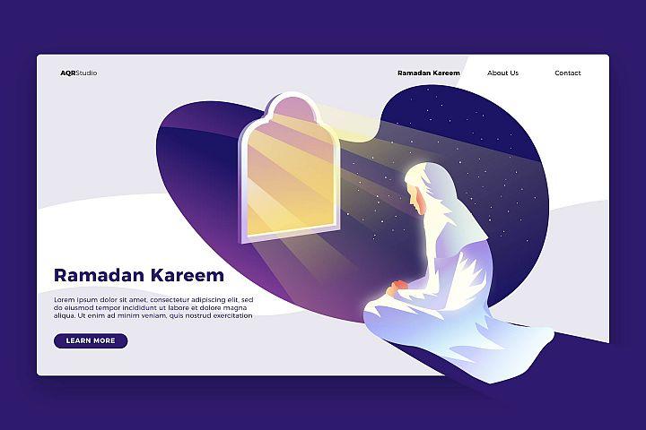 Ramadan Pray - Banner & Landing Page