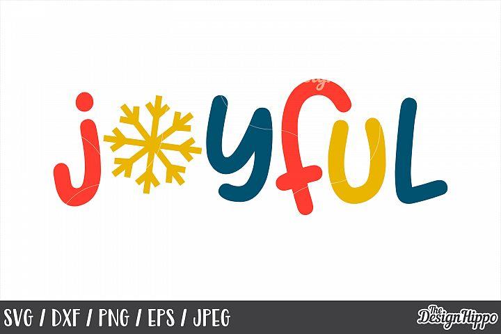 Kids Christmas, Joyful, Snowflake, SVG, PNG, DXF, Cut Files