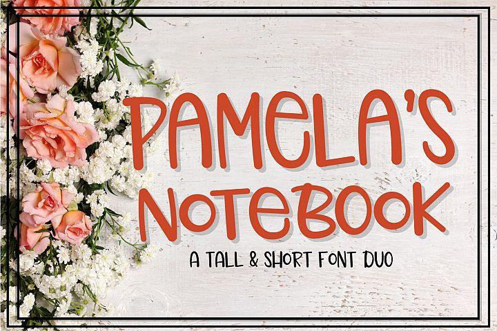 Pamelas Notebook - Font Duo