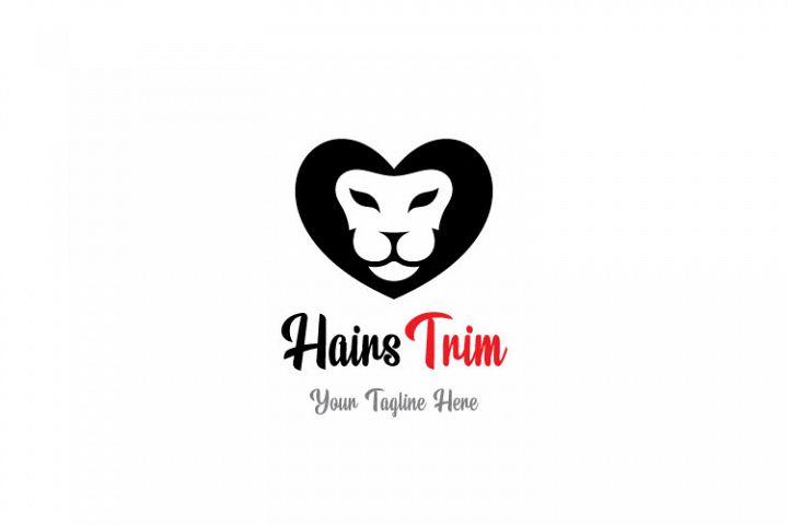 Saloon Heart Shape Logo
