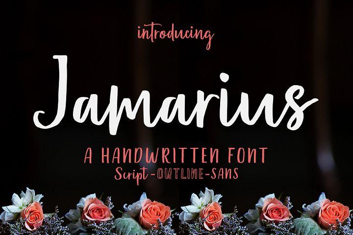 Jamarius Script - A Handwritten Font