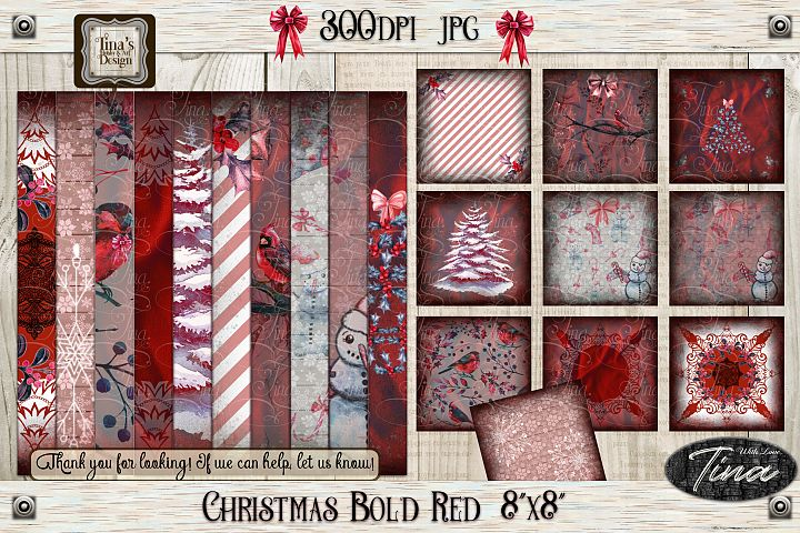 Large Christmas Bundle, 44pcs! - Bold Red 103018LGPK