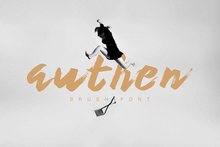 Authen Brush Font