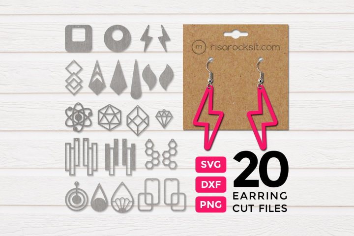 Modern Earrings SVG Design Bundle