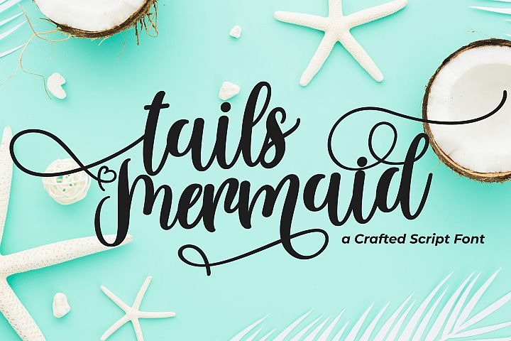 Tails Mermaid - a Crafted Script - Free Font of The Week