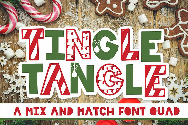 Tingle Tangle - A Christmas Font Quad!