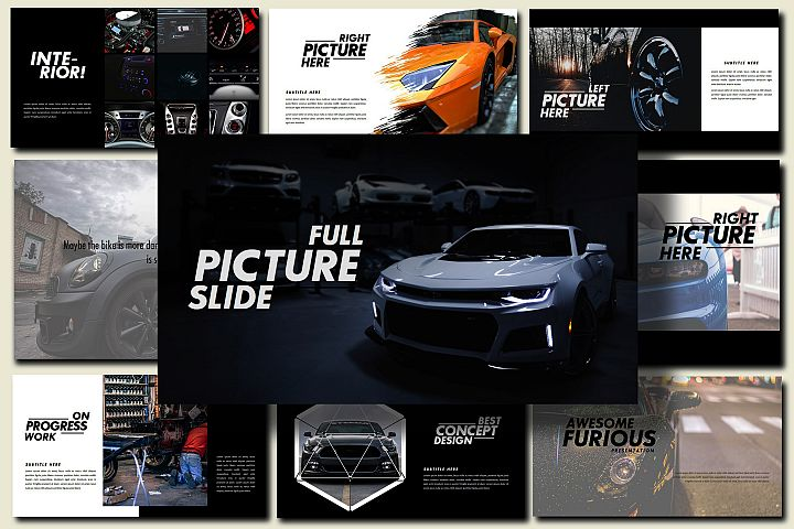 Furious - Sport Google Slides Dark