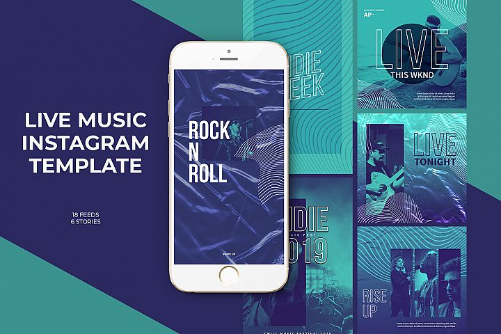 Live Music Instagram Templates