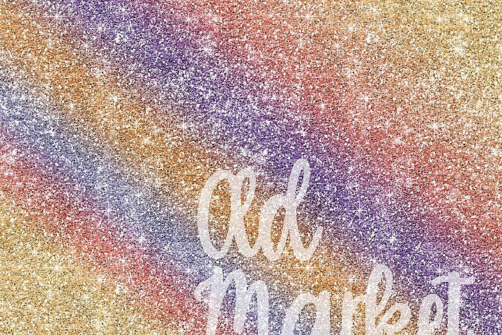 Rainbow Glitter Digital Paper Textures - Free Design of The Week Design 2