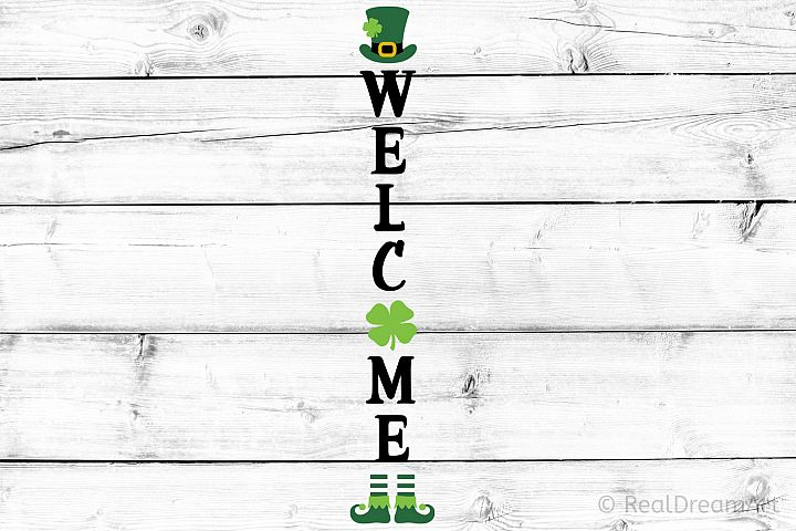 St Patricks Day Porch Sign SVG, DXF, PNG, EPS