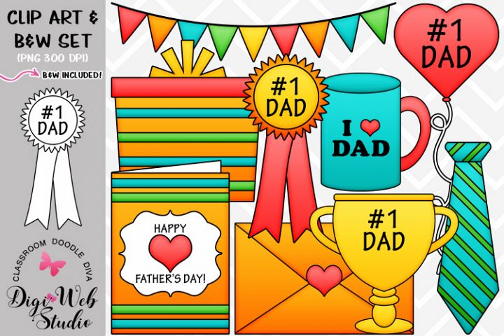 Clip Art / Illustrations - Fathers Day Gifts