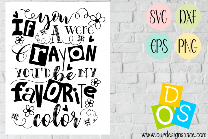Crayon Saying SVG, DXF, EPS and PNG file