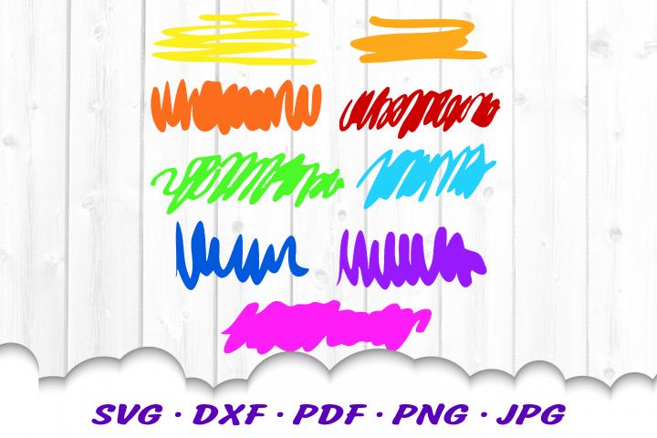 Scribbles Marker SVG DXF Cut Files Bundle