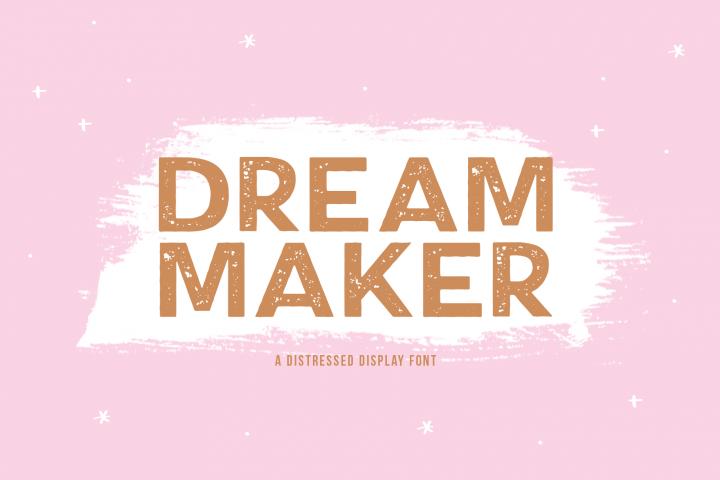 Dream Maker - A Distressed Font