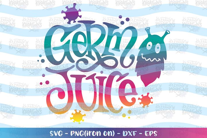 General svg Germ Juice Sanitizer Label decal germs