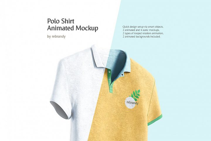 Polo Shirt Animated Mockup
