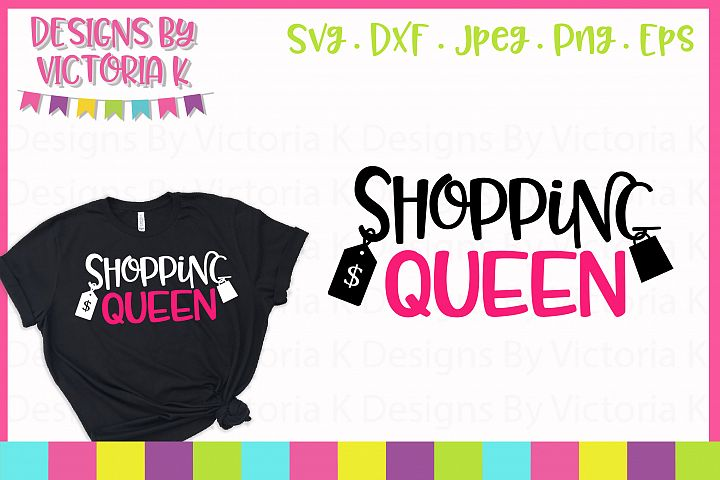 Shopping Queen Black Friday SVG Cut File