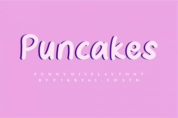 Puncake - funny font