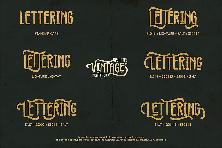 Vintages Typeface example image 5
