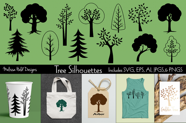 SVG Tree Silhouettes