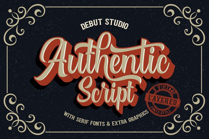 Authentic Script // Layered Fonts