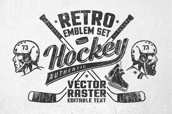 Retro Hockey Logos