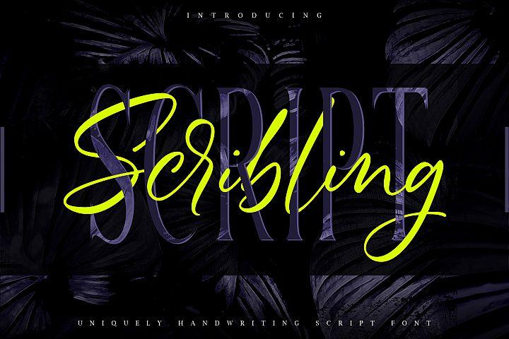 Scribbling | Uniquely Handwriting Script Font