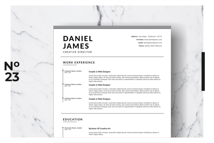 Resume Template Vol. 17