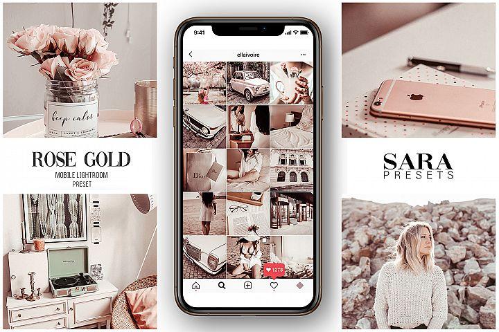 Mobile Lightroom Preset ROSE GOLD