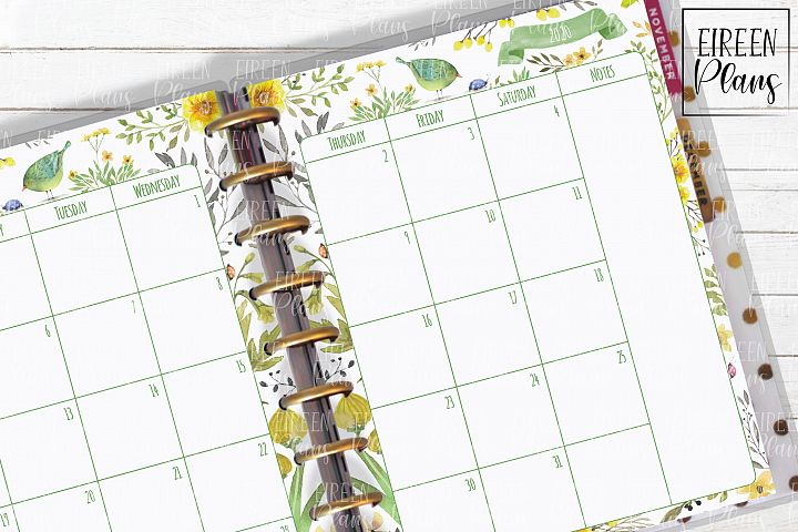 2020 monthly printable insert for Classic Happy Planner