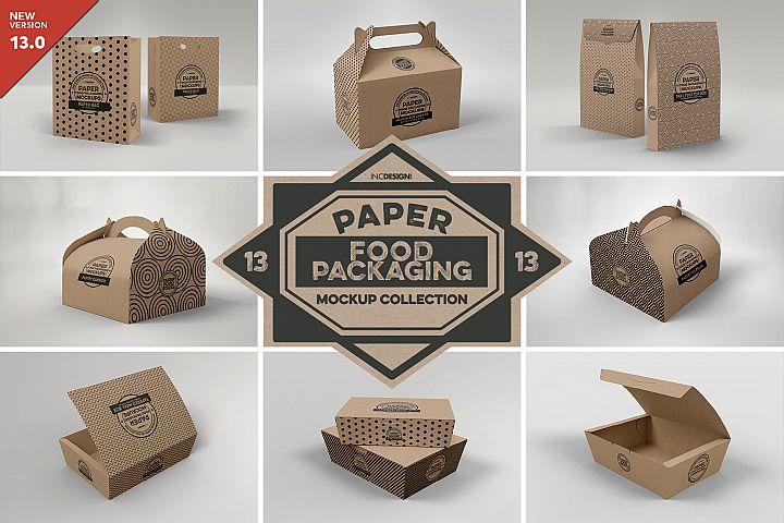 VOL.13 Food Box Packaging MockUps
