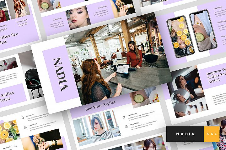 Nadia - Hair Salon Google Slides Template