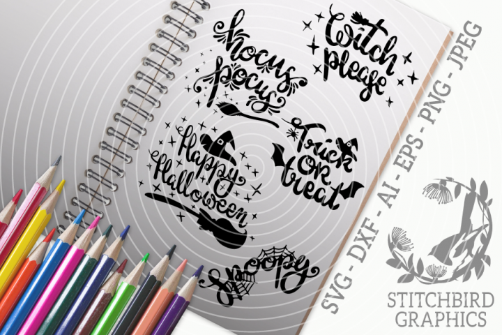 Halloween Quotes 2 Bundle SVG, Silhouette Studio, Cricut