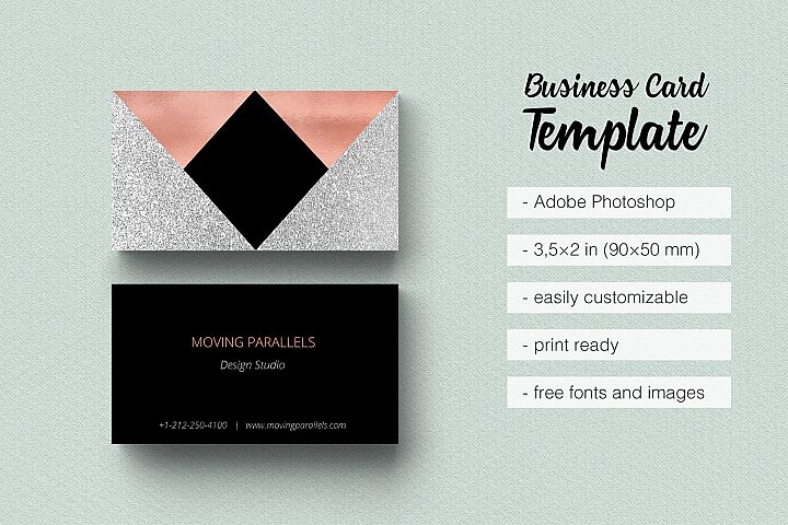 Business cards design bundles rose gold foil marble business card moving parallels templates business cards reheart Gallery