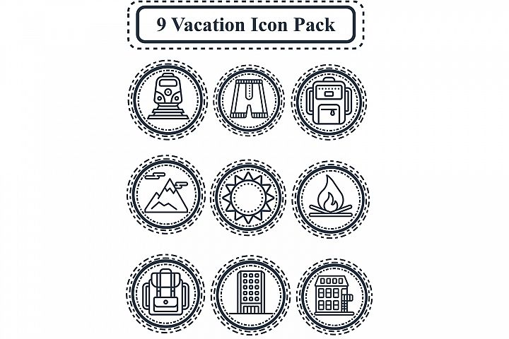 Vacation icon Pack