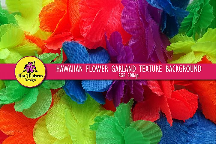 Colourful Hawaiian Lei Floral Garland Necklace Texture Paper