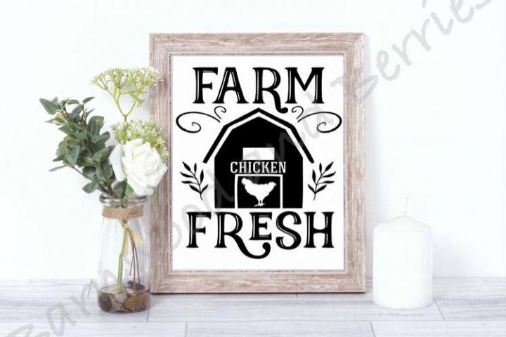 Farm Fresh Chicken SVG