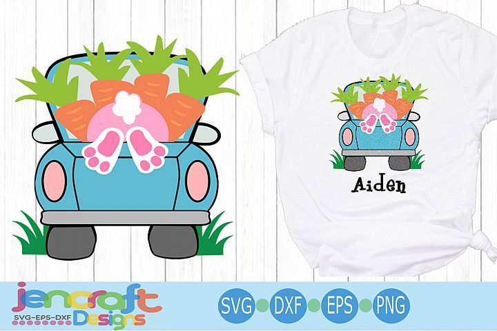 Easter svg, Easter bunny truck, Easter truck svg eps dxf cut