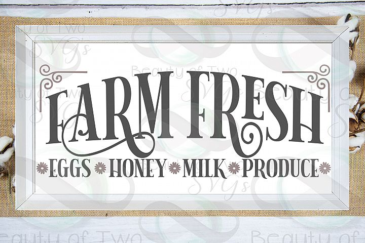 Farm Fresh svg & png, Farmhouse Sign svg, Fresh Eggs svg
