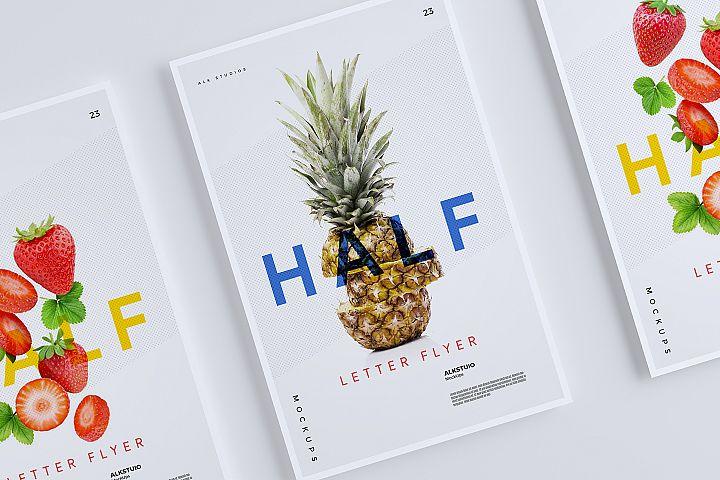 Half Letter Flyer Mockup