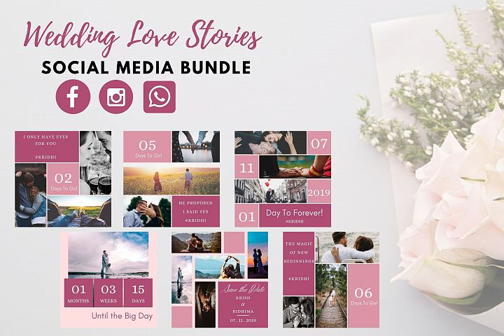 Social Media Templates- Wedding Love Stories