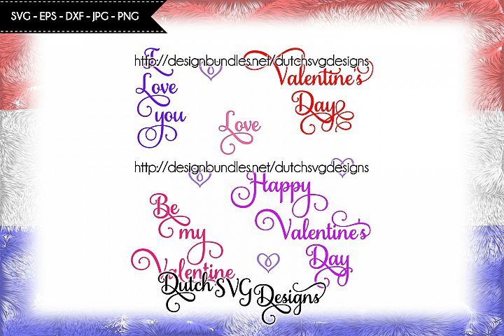 5 Valentine texts, valentine svg, valentine cut file, love