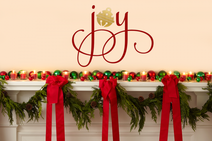 Christmas Joy with Bell SVG File