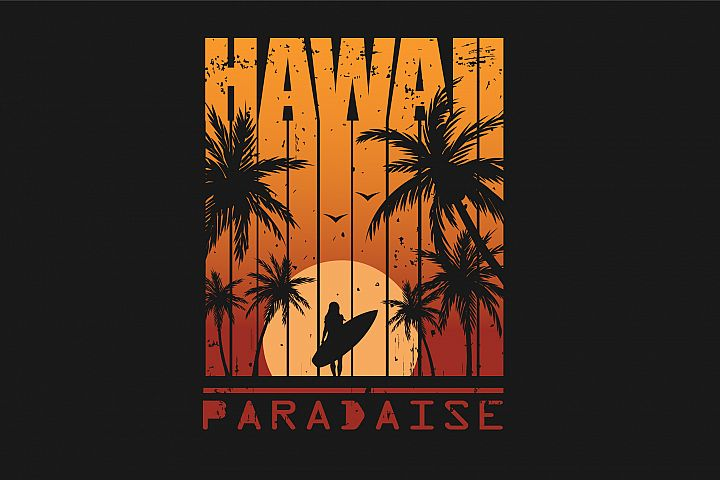 Hawaii.Print For T-shirt