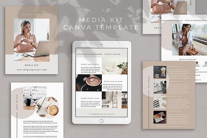Media Kit Template for Canva | Abigail