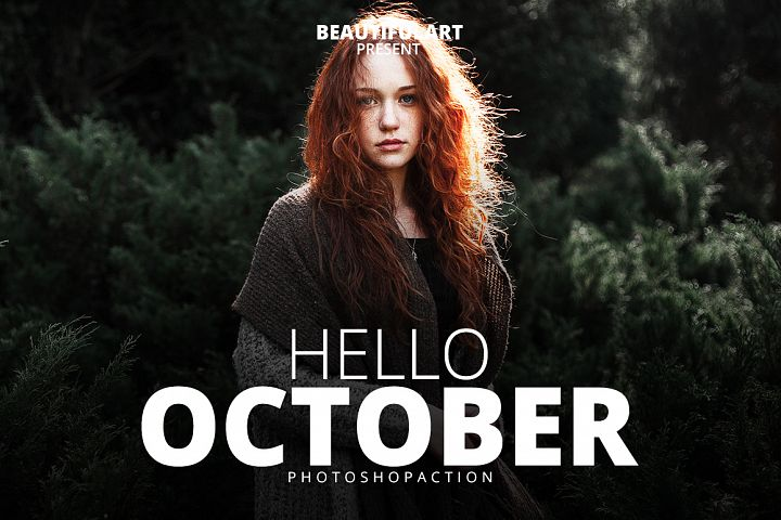 Hello October Photoshop Action