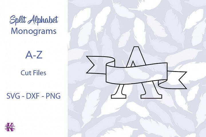 Split Alphabet Monogram SVG Cut files